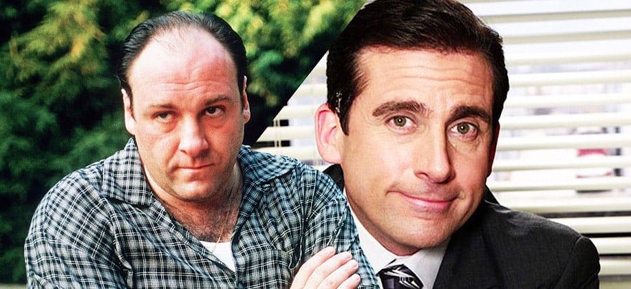'The Office': HBO pagou para que James Gandolfini não entrasse no elenco. Imagem: Montagem/Olhar Digital
