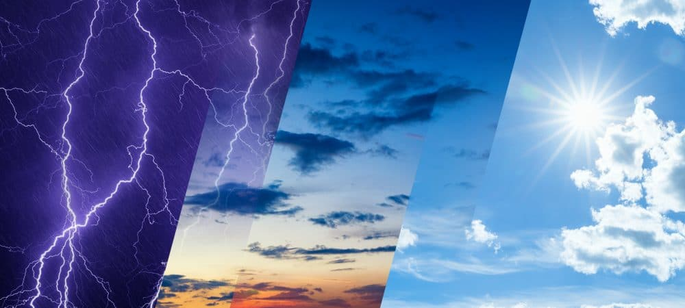 Imagem conceito de previsão do tempo