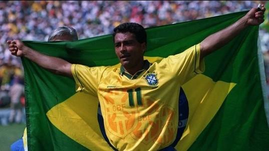 Romário em 1994, ano em que a seleção brasileira foi tetracampeã do Mundo. Imagem: Reprodução/Instagram