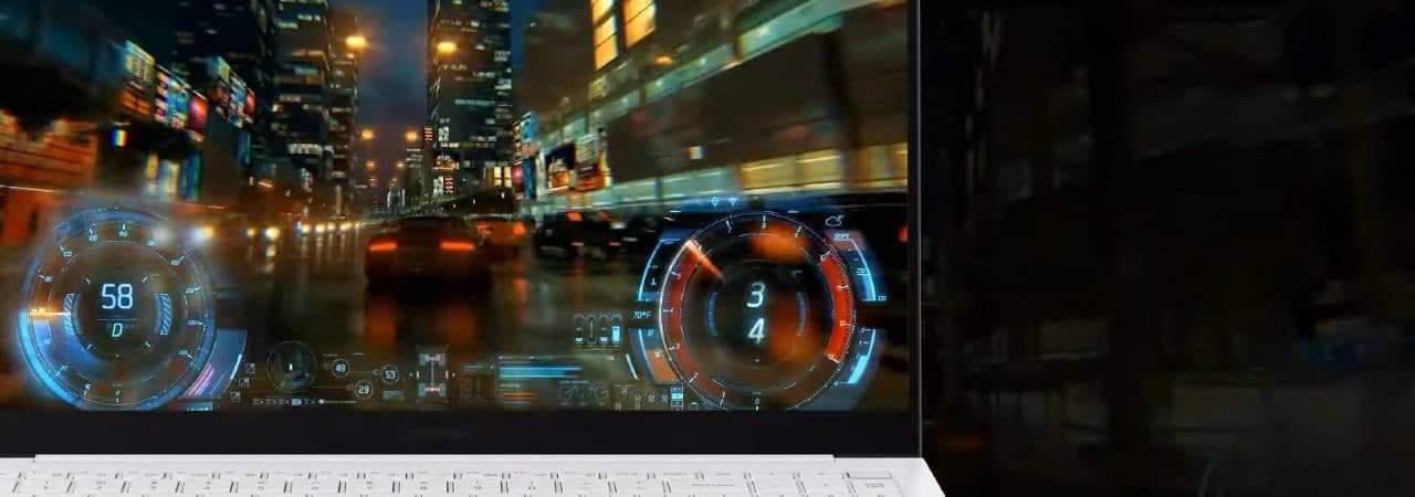 Imagem conceitual mostra o teclado de um Galaxybook Pro, da Samsung