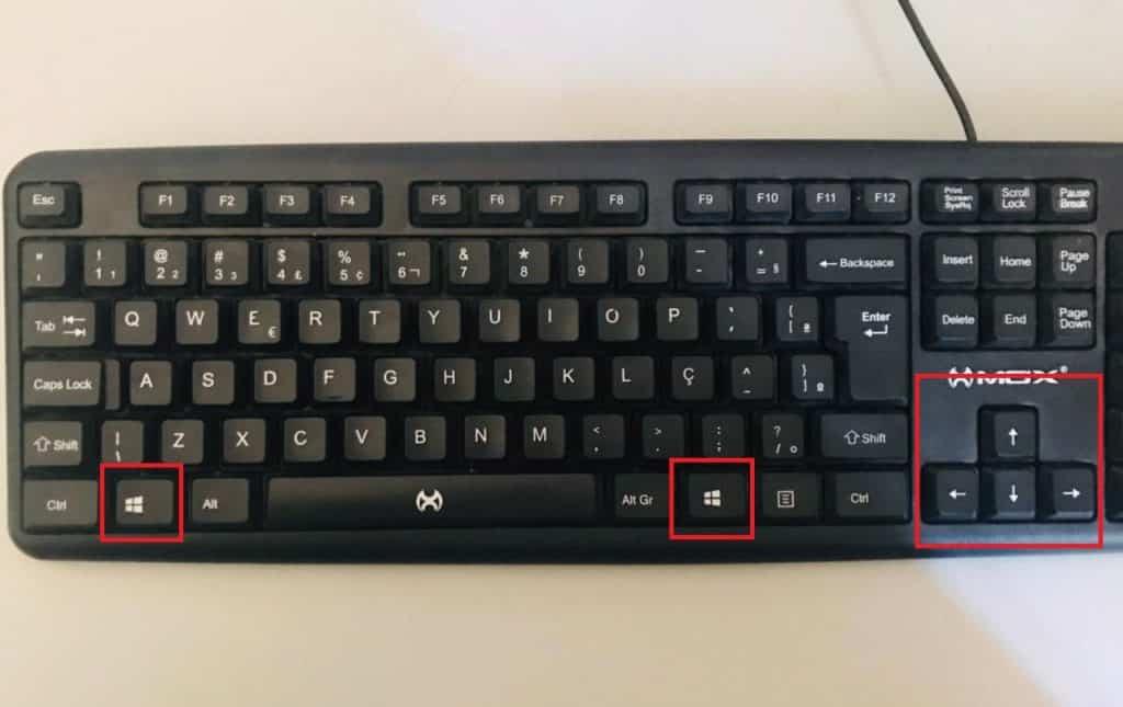Teclado com atalho para dividir a tela do computador. Imagem: Olhar Digital