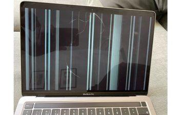 Usuários relatam tela do novo MacBook quebrando com uso normal