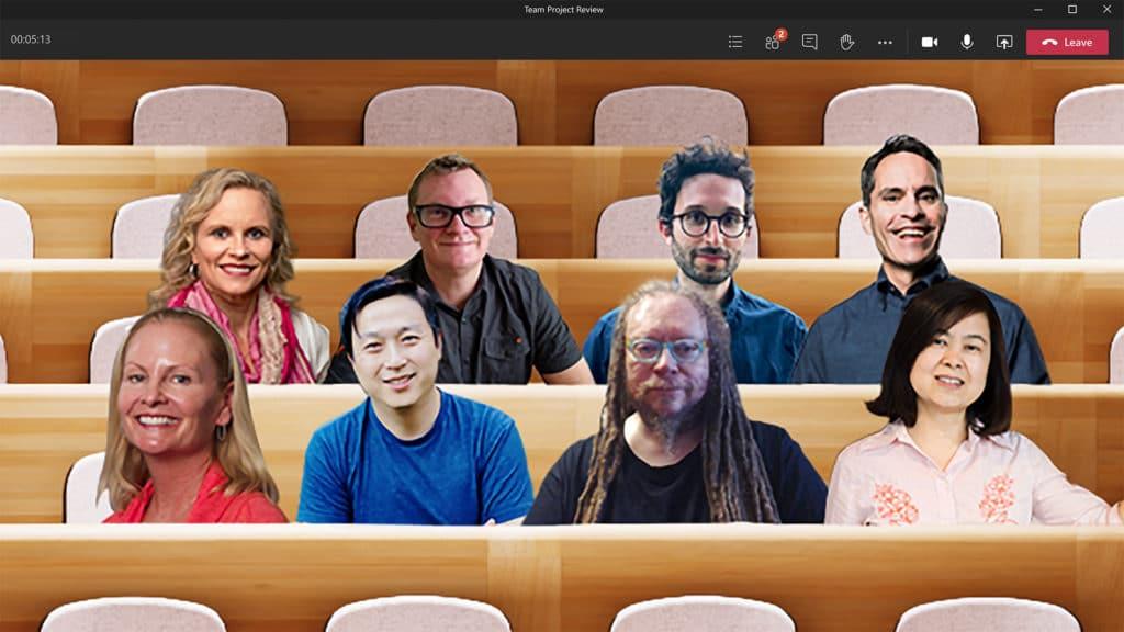 Modo Together do Microsoft Teams