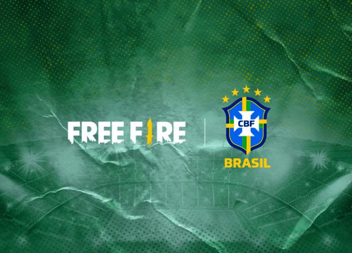'Free Fire' e Confederação Brasileira de Futebol firmam parceria. Imagem: Garena/Divulgação