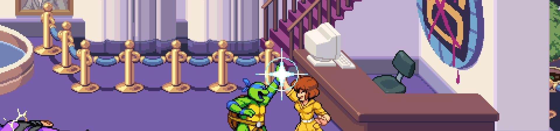 April O'Neil em 'Teenage Mutant Ninja Turtles: Shredder's Revenge'. Imagem: Dotemu/Divulgação