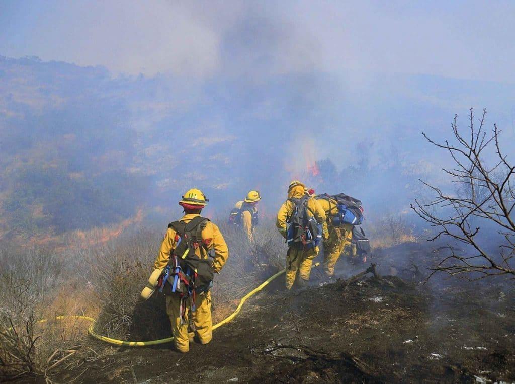 I vigili del fuoco hanno spento l'incendio