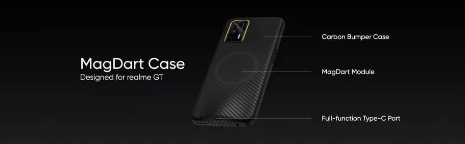 Além dos carregadores magnéticos e um powerbank, a Redmi também anunciou um case de recarga para o Realme GT