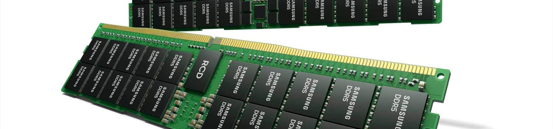 Samsung apresenta novos detalhes da memória RAM DDR5 de 512GB. Divulgação: Samsung