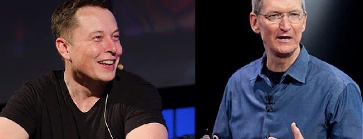 Elon Musk e Tim Cook