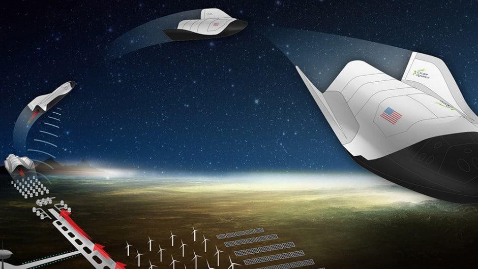 Ilustração mostra como seria o funcionamento de um foguete movido a micro-ondas