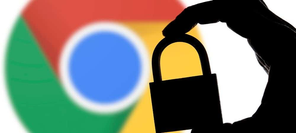 Google Chrome logo with padlock representing passwords