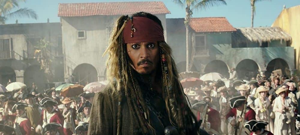 Jhonny Depp em cena de Piratas do Caribe