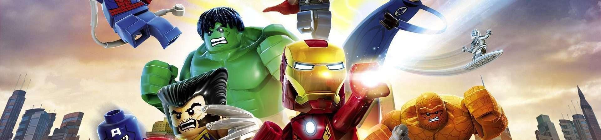 Imagem promocional exibe heróis da Marvel reunidos em sua versão Lego.