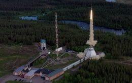El fuego destruye parte del centro espacial en Suecia