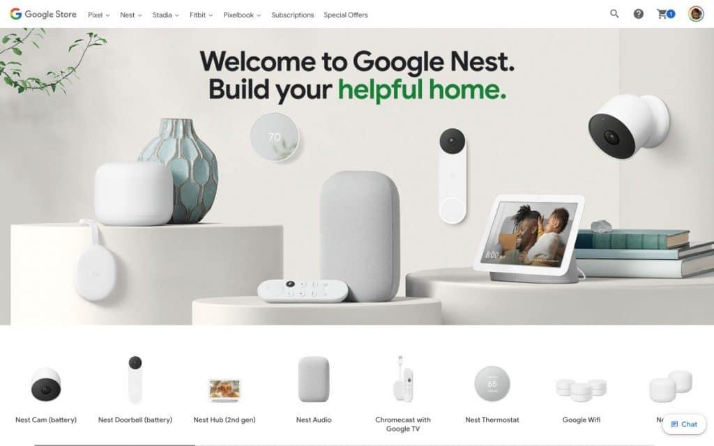 Página do Google mostra nova linha Smart de produtos inteligentes