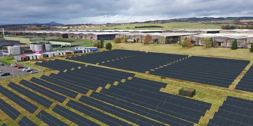 Projeto do parque solar em Fife