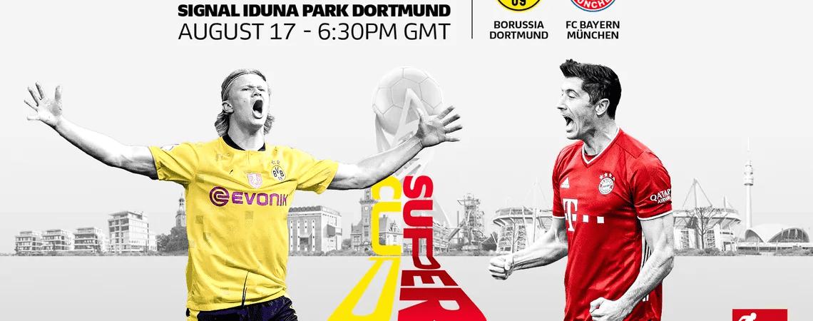 Imagem promocional do jogo entre Bayern x Borussia