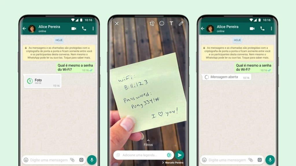 WhatsApp agora permite envio de imagens de visualização única