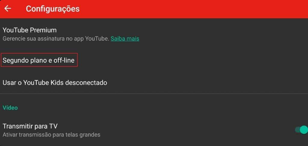 Como acessar segundo plano e off-line no aplicativo YouTube Kids