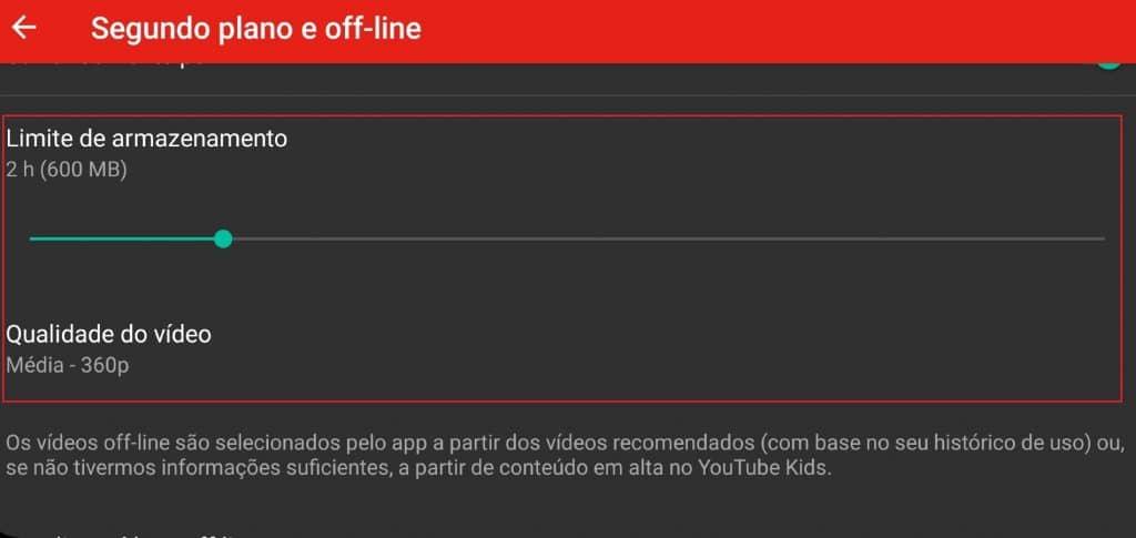 Como configurar armazenamento de vídeos off-line no YouTube Kids