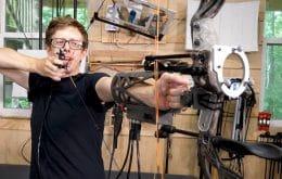 Inventor cria arco com mira automática que acerta todas as flechas