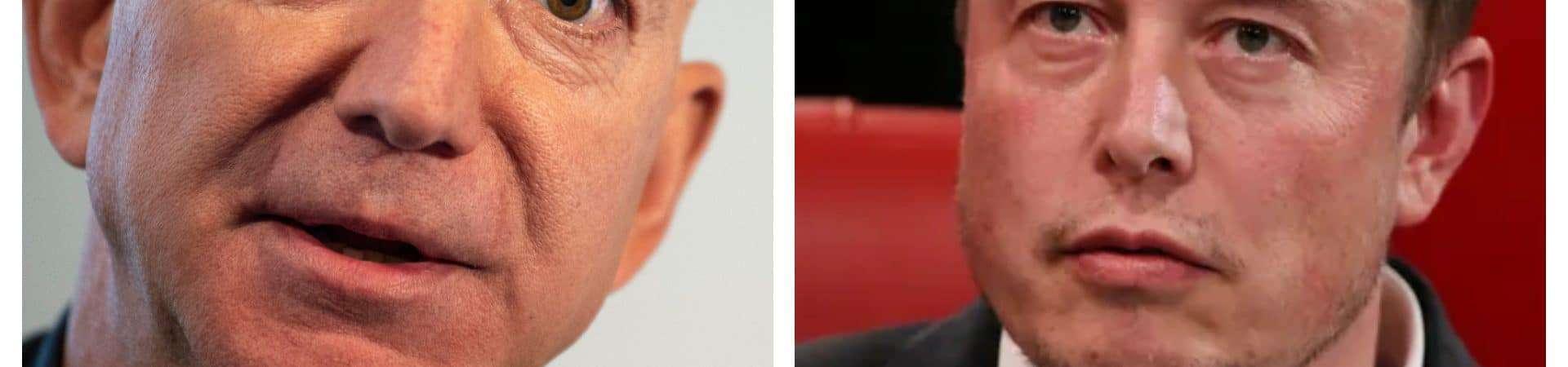 La edición muestra a Jeff Bezos y Elon Musk uno frente al otro