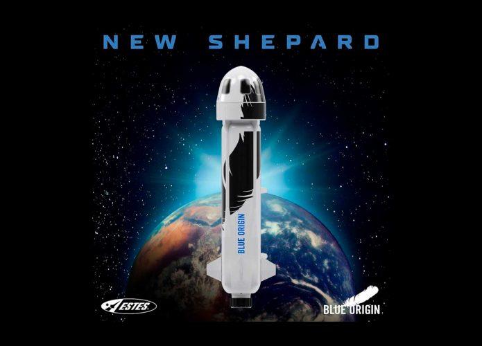 New Sheppard, nave da Blue Origin que levou Jeff Bezos ao espaço ganha versão em miniatura. Imagem: Estes Rockets