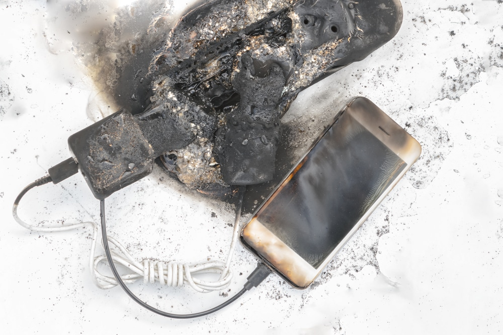 incêndio smartphone