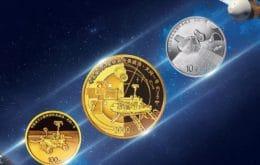 China celebra sua primeira missão a Marte com novas moedas de ouro e prata