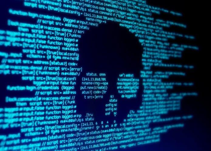 Imagem-conceito para um ataque de malware