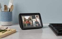 Amazon atualiza Echo Show 5 e 8 no Brasil com câmeras de maior resolução