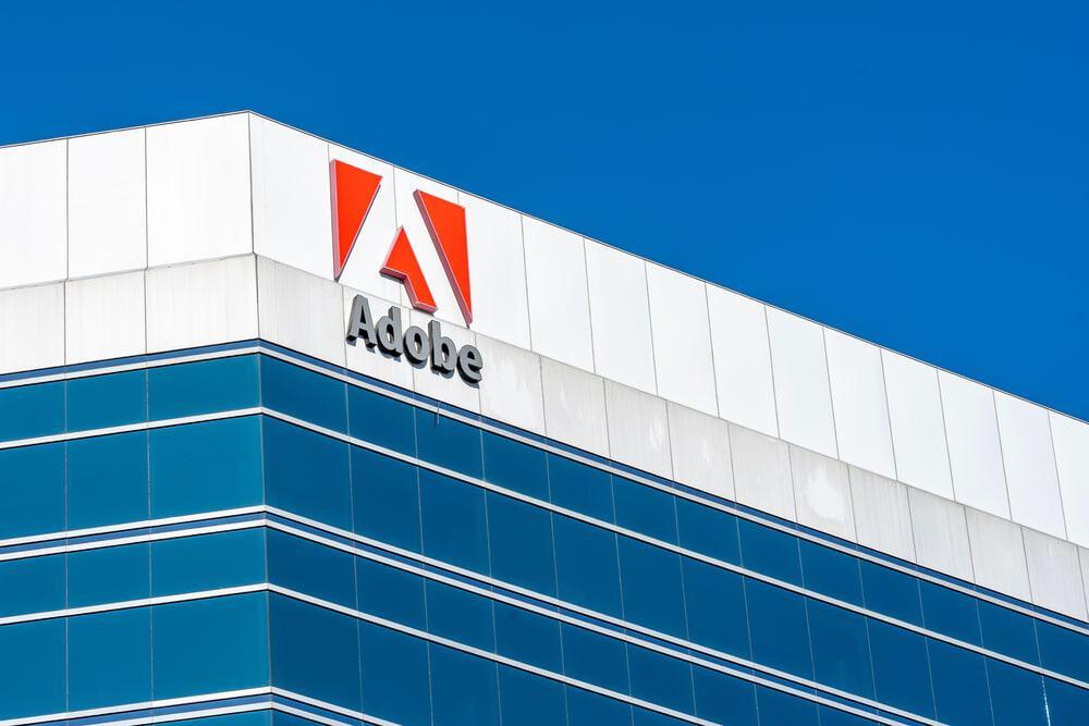 Fachada de um prédio da Adobe