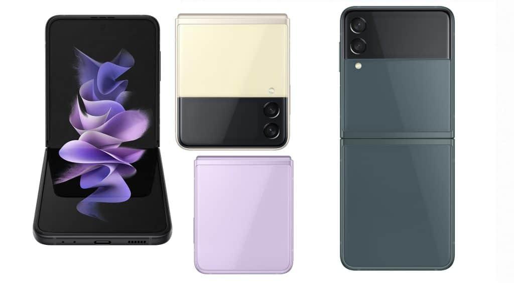 Imagem mostra renderização conceitual do Galaxy Z Flip 3. Preços do Galaxy Z Fold 3, Z Flip 3 e Galaxy Buds 2 foram vazados na Europa