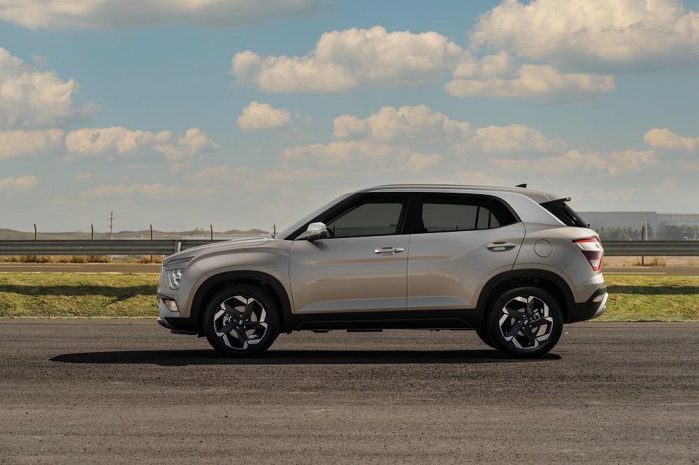 Imagem promocional do Hyundai Creta (silhueta lateral)