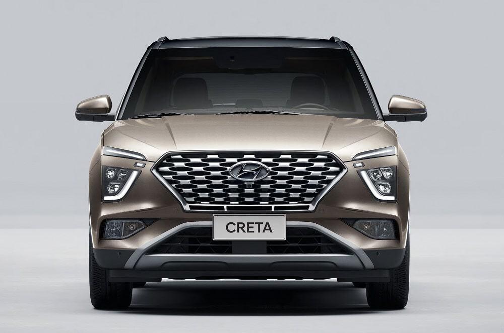Imagem promocional do Hyundai Creta (visão frontal)