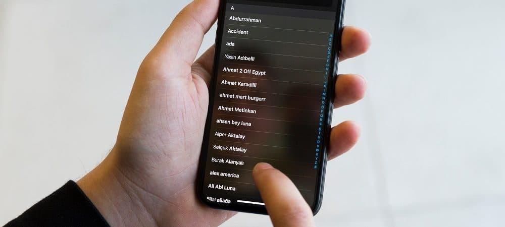 iPhone contatos