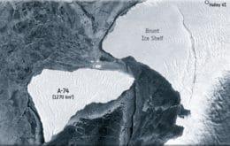 Iceberg flutuante de mais de 1200 km quadrados quase colide com a Antártica; veja