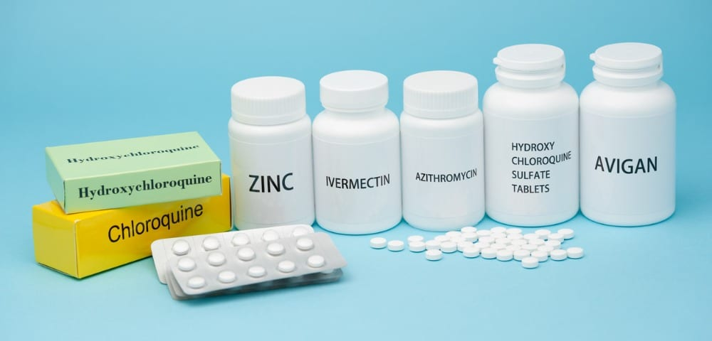 Cloroquina, Sulfato de Hidroxicloroquina, Zinco, Ivermectina e Avigan