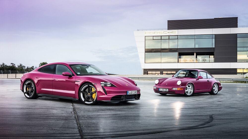 Porsche Taycan Turbo S e 911