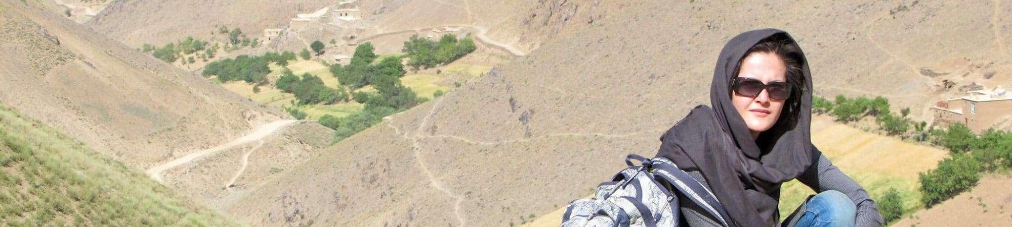 A diretora Sahraa Karimi, presidente da estatal de cinema do Afegnistão