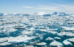 Chuva destrói quase metade da camada de gelo na região mais fria da Groenlândia