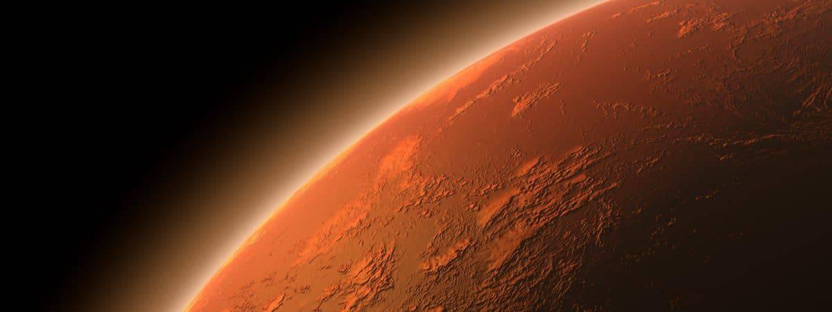 Atmosfera de Marte, em ilustração