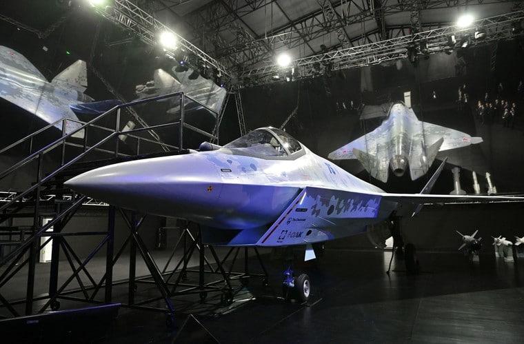Imagem mostra o LTS Checkmate, que a Rússia criou para rivalizar com o avião de caça F-35, dos EUA