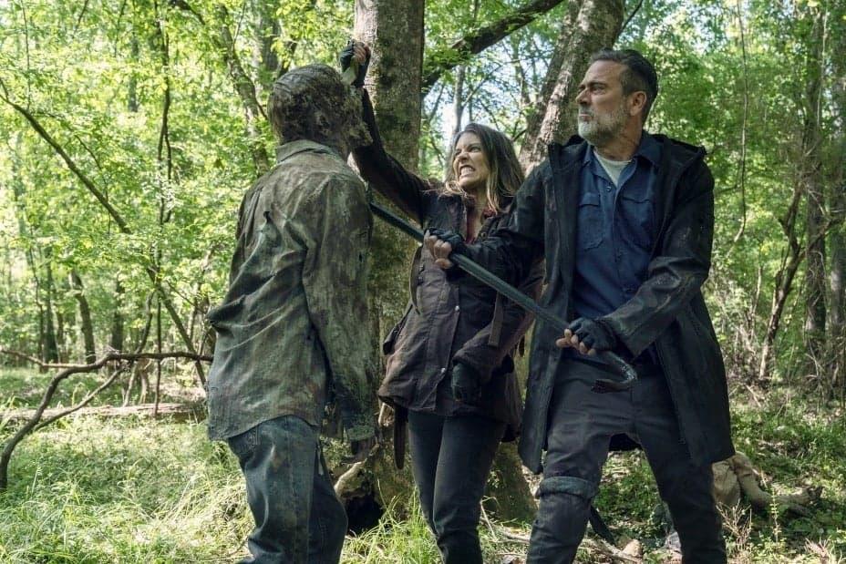 Maggie e Negan lutam juntos em imagens da última temporada de The Walking Dead
