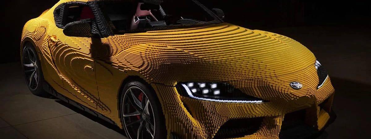 Toyota Supra Lego, réplica de modelo clássico em tamanho real