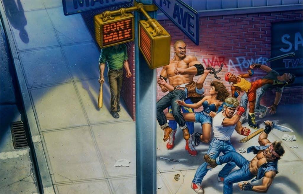 Arte de 'Street Of Rage', feita por  Mick McGinty. Imagem: Sega/Divulgação
