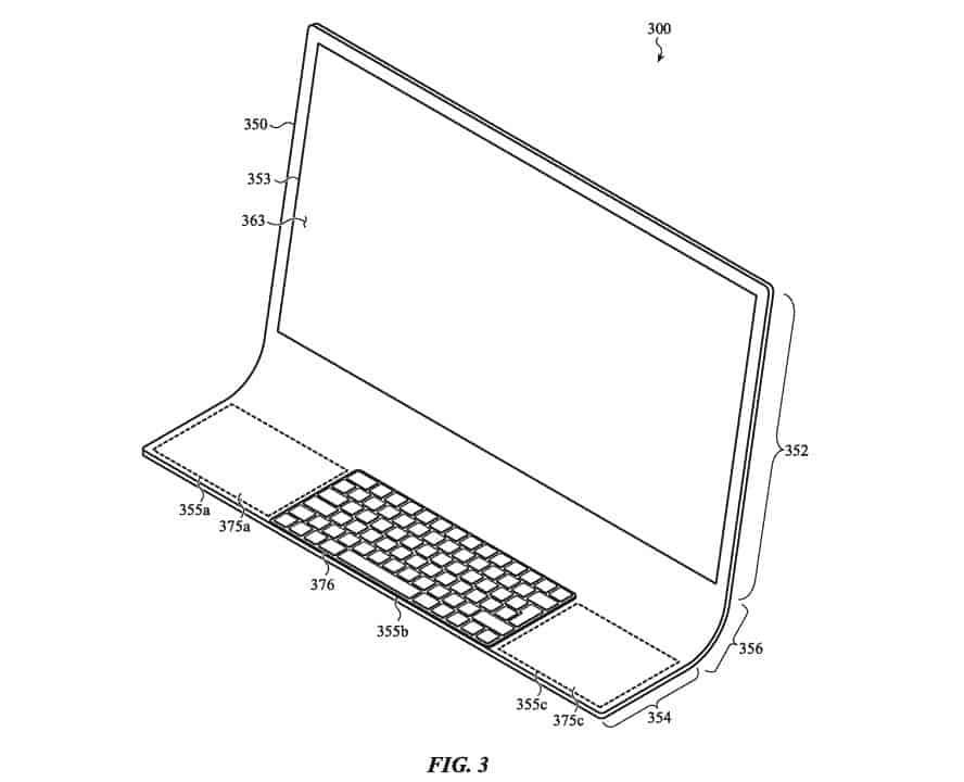 Apple registra patente para iMac de 24 polegadas de tela curva.