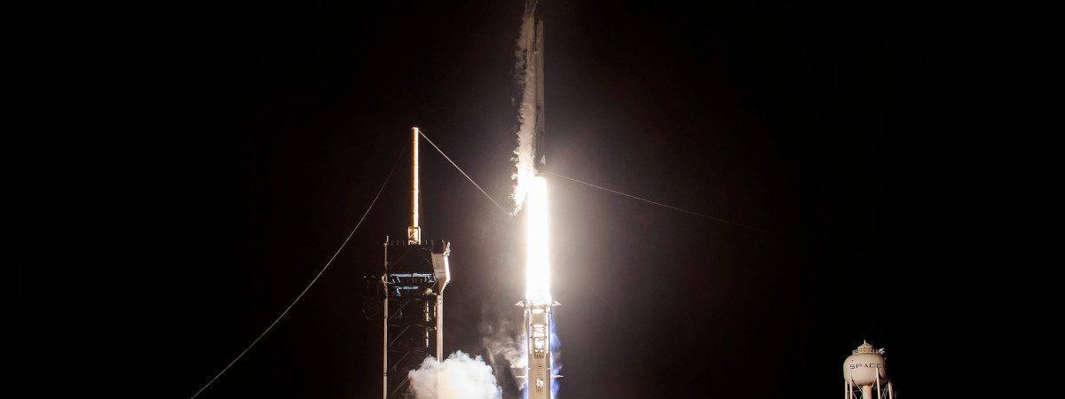 Lançamento da Crew-2, missão tripulada da SpaceX para a Nasa