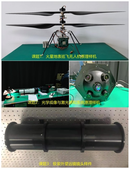 Protótipo de drone chinês para Marte