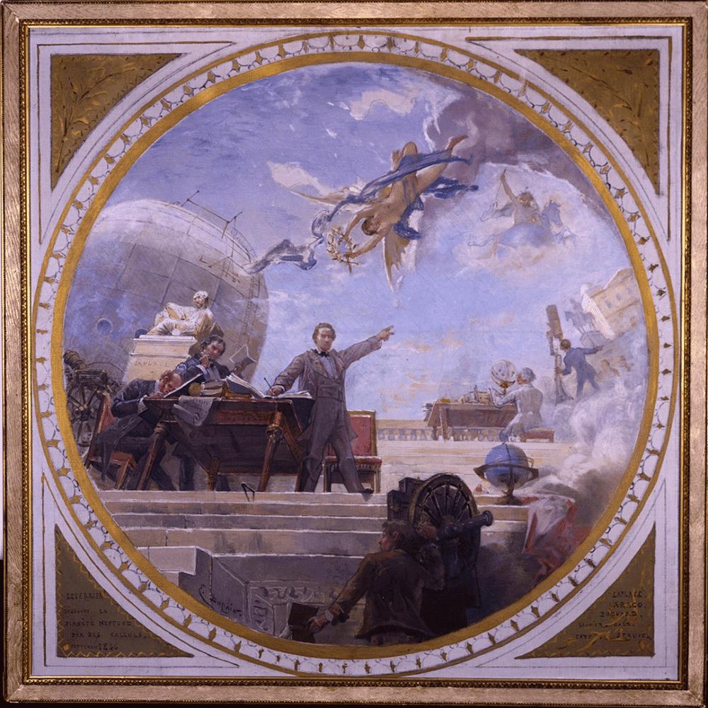 Esboço de pintura de Edmond-Louis Dupain para o teto da rotunda leste do Edifício Perrault do Observatório de Paris